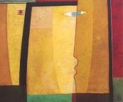 Maskenkuss, 2003, Öl-Leinwand, 130x110cm