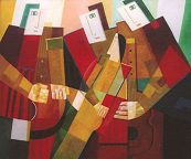 Die Romanze, 2003, Öl-Leinwand, 130x110cm
