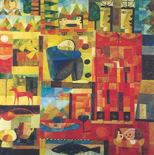 Kindheitsträume, 1998, Öl-Leinwand, 90x90cm