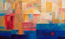 Komposition -14, 2005, Öl auf Leinwand, 82x49cm