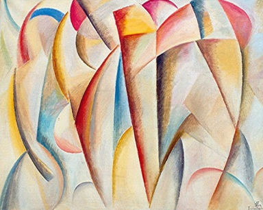 Komposition -3, 2005, Öl auf Leinwand, 100x80cm