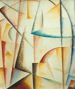Komposition -16, 2005, Öl auf Leinwand, 50x60cm