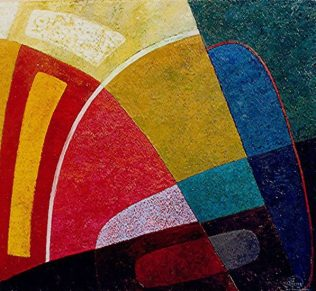Komposition -7, 2003, Öl-Leinwand, 80x90cm