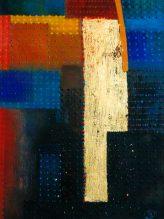 Abstraktion,2009,Öl,Gold auf Leinwand,40x30cm