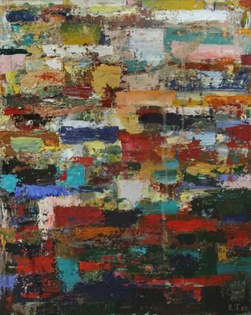 Komposition 2007 Öl auf Papier 50x40cm