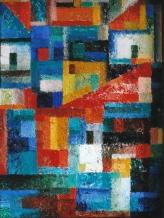 Komposition1,2009,Öl auf Hartfaser,40x30cm