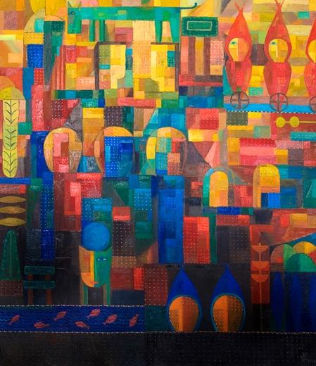 Komposition 2010, Öl-Leinwand, 125x108cm