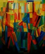 Komposition 2012, Öl-Leinwand, 120x100cm