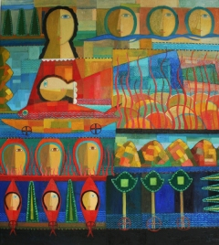 Traum im Wasser 2011, Öl-Leinwand, 108x96cm