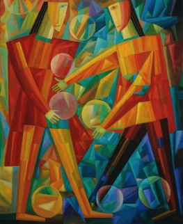 Jonglieren, Öl-Leinwand, 112x92cm