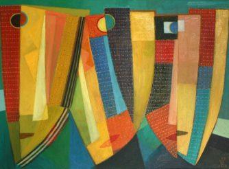 Die Masken, Öl-Leinwand, 65x90cm