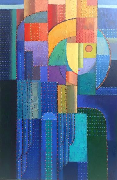 Komposition 2018, Öl auf Leinwand, 80x60cm 2