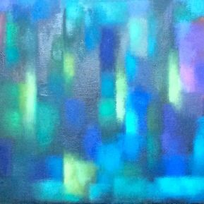 Blaue Komposition, 2019, Öl auf Leinwand, 70x100cm Kopie